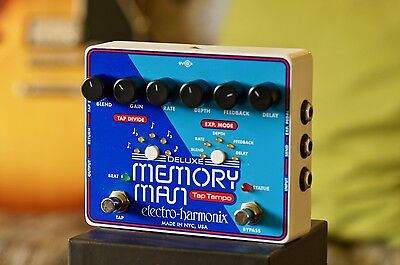 Electro Harmonix Deluxe Memory Man Tap Tempo 1100ms - MN3005 Chip! EHX - MINT!