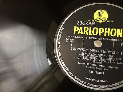 Sgt Peppers Lonely Hearts Club Band * Mono * Very Rare Label Error * Near Mint