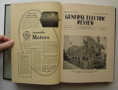 General Electric Review Volume XIV 1911, Antique Book