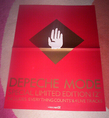 DEPECHE MODE ~ EVERYTHING COUNTS. Orig 1983 UK promo POSTER. A3 (30X42 cms).