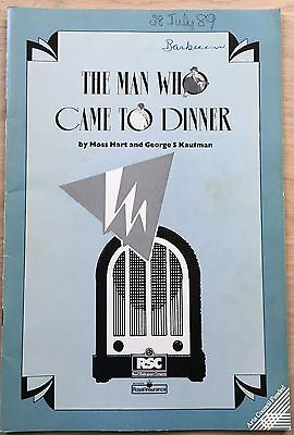 Ralph Fiennes THE MAN WHO CAME TO DINNER 1989 RSC PROGRAMME Mark Strong London