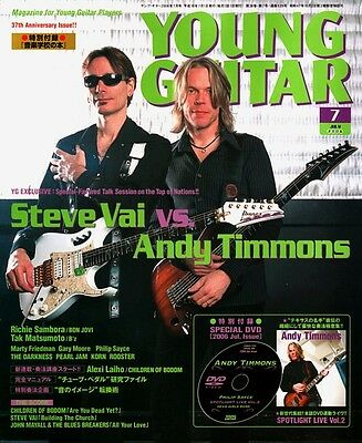 Steve Vai Andy Timmons Dvd Lesson Young Guitar July 2006 Richie Sambora Import!