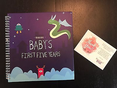 BABY MEMORY BOOK + STICKERS - Unconditional Rosie Baby Boys FIRST FIVE YEARS