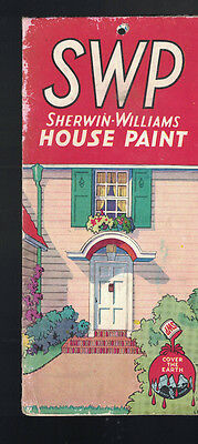 SWP Sherwin William House Paint Brochure 1932 w Paint Samples