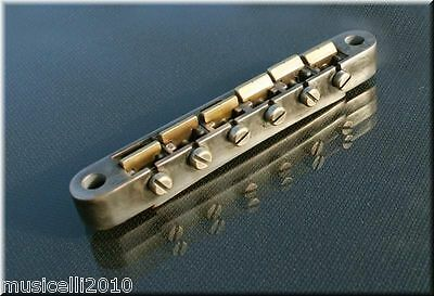 Faber ABRM-59-BA, ABRM59BA, ABR Bridge, Brass Saddles, Nickel Aged, fits Asian