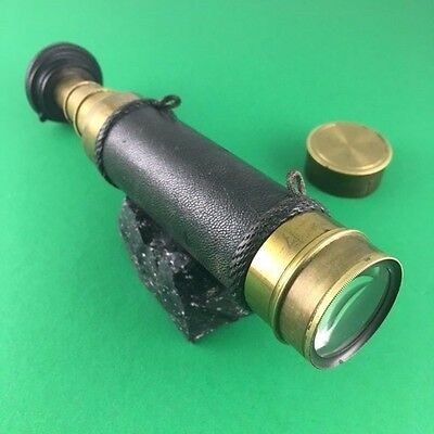 Rare Antique 3 Draw Telescope With Adjustable Eye Filter