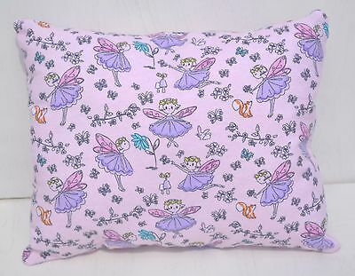 """Fairies Fairy Toddler Pillow Throw Travel Cuddle Bed Pillow 10"""" x 13"""" Flannel"""