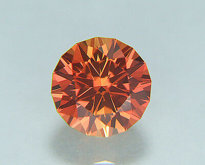 Padparadscha Sapphire. Lab Grown Round Barion Cut.11mm. 8.75cts