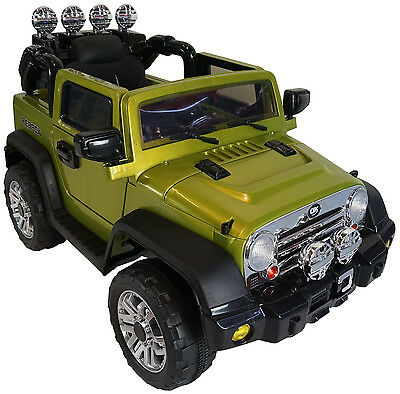 2017 Jeep 12-volt Battery Powered Electric Ride On Kids Toy Car Remote -Green