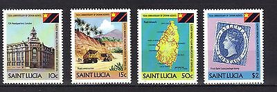 St Lucia. Crown Agents Sg 637-640 1983 Mnh