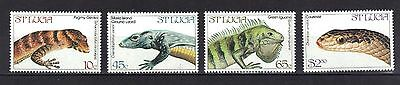 St Lucia. Endangered Wildlife Sg 711-714 1984 Mnh