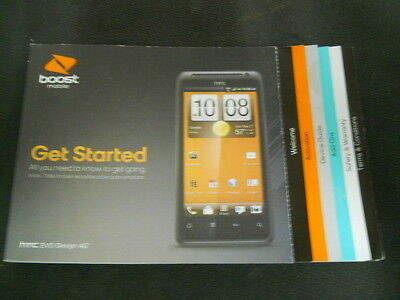 Boost Mobile HTC EVO Design 4G Cell Phone Owners Operators Manual