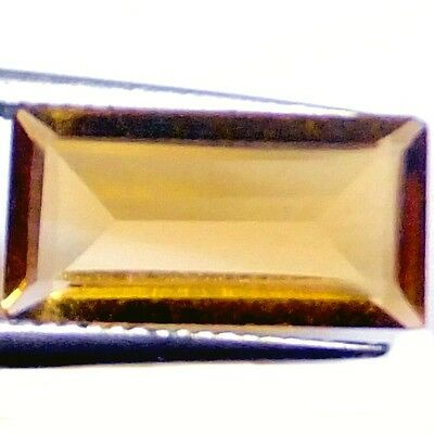 NATURAL ATTRACTIVE GOLDEN YELLOW CITRINE LOOSE GEMSTONE (12 x 6 mm) BAGUETTE CUT