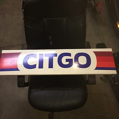 CITGO Gas Oil Service Station Advertising Sign Panel Mancave 40x12""