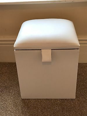 Dressing Table Stool / Linen Box With Storage In Faux Leather