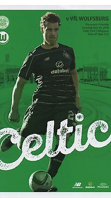 Celtic V Wolfsburg 2016 16th July Mint New Condition Official Programme