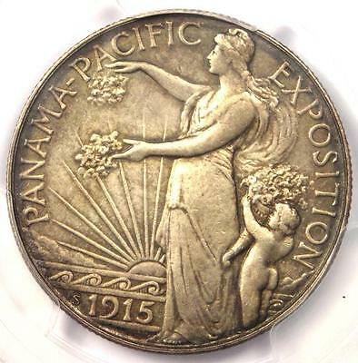 1915-S Panama Pacific Half Dollar 50C Coin - Certified PCGS AU Details!