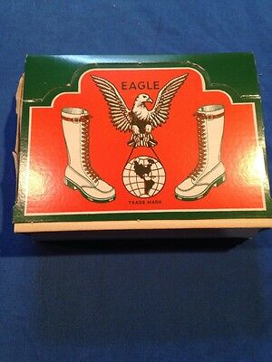 Vintage Rare Eagle Leather Shoe Laces Store Counter Top Display