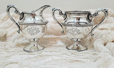 Vtg Artcraft 2 pc Sterling Silver Sugar and Creamer for Coffee Service Set