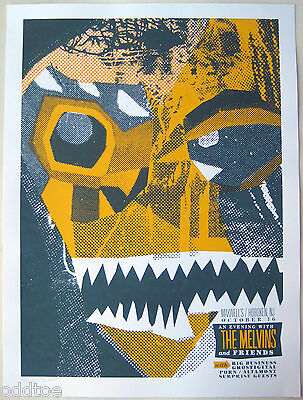 THE MELVINS Poster - Original Signed/Numbered 2006 Concert by Kevin Mercer