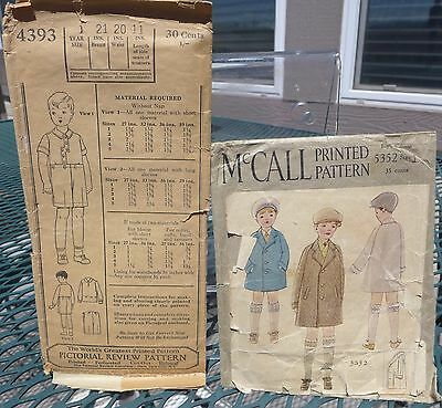 Pair of 1920s Boy's Patterns McCalls  & Pictorial Review Complete