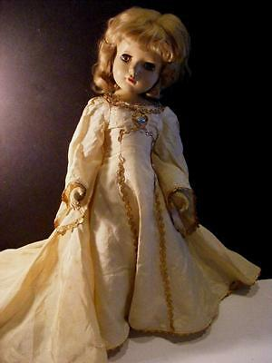 "RARE 1940s 17"" MADAME ALEXANDER Doll GOOD FAIRY Green Eyes Queen Margaret face"