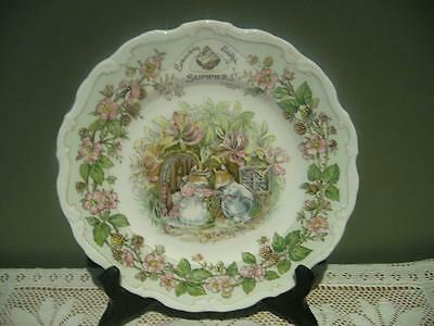 Royal Doulton England 'summer' Collector Plate - Brambly Hedge - 1982 - Vgc