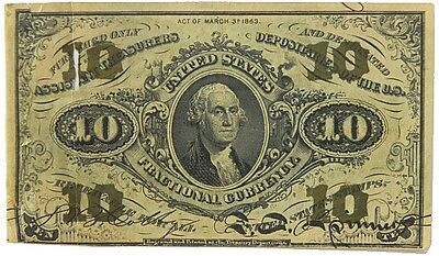 Us Ten Cent Fractional Currency Third Issue 1864