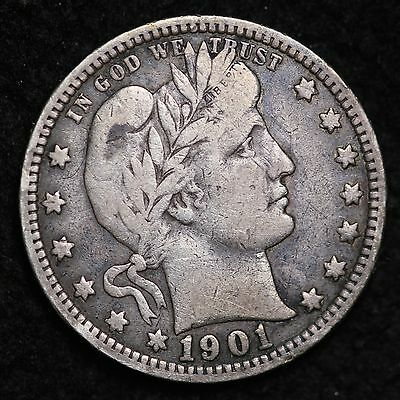 1901 Barber Quarter CHOICE FINE FREE SHIPPING E289 NT