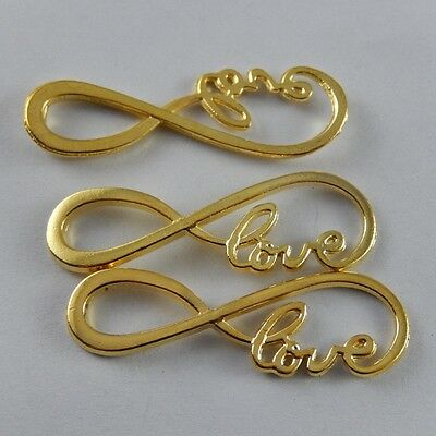 38390 Gold Tone Alloy Infinity Charm Connector Jewelry Finding Hot 10pcs