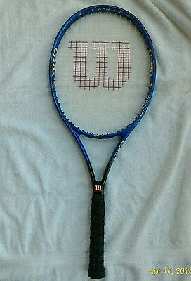 WILSON Ultra Ti Tennis Raquet Graphite & Titanium   4  1/4 inch grip. Carry bag.