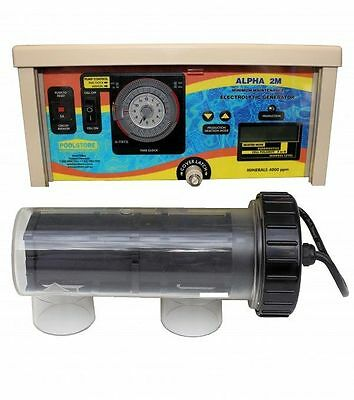 Poolstore Alpha 2M Self Cleaning MAGNESIUM chlorinator. One Size for all Pools