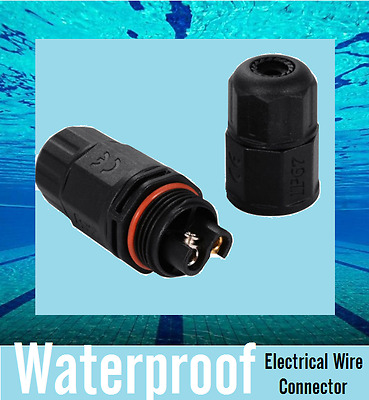 Underwater 2/3 Pins IP67 Waterproof Electrical Cable Pool Wire Connector