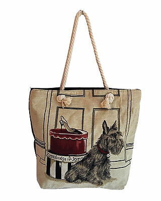 Scottish Terrier or Scottie Dog Tote or Shoulder Bag