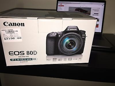 Canon EOS 80D With 18-135 USM Kit 24.2MP Wifi NFC And Warranty