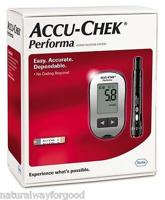 Glucose Meter Monitor New Accu-Chek Performa + 20 Test Strips Infrared by Roche