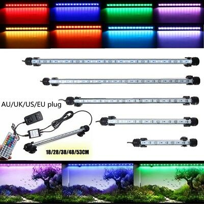 RGB Color Changing SMD LED Aquarium Fish Tank Light Bar Submersible Lamp +Remote