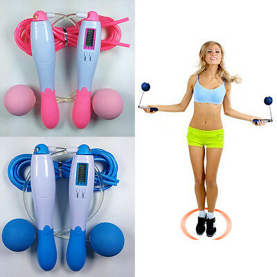 Cordless & Cord Digital Count Calorie Counter Jump Rope Skipping Rope Fitness SA