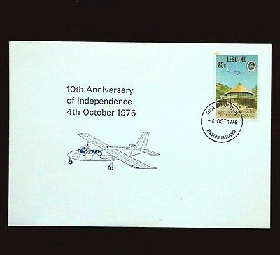 1976 LESOTHO 10th ANNIVERSARY OF INDEPENDENCE FDC