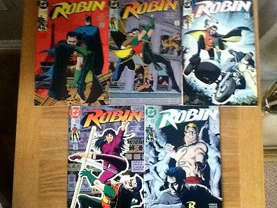Complete Set Lot Bundle Robin I 1, 2, 3, 4, 5 mini-series - 1991 - free post