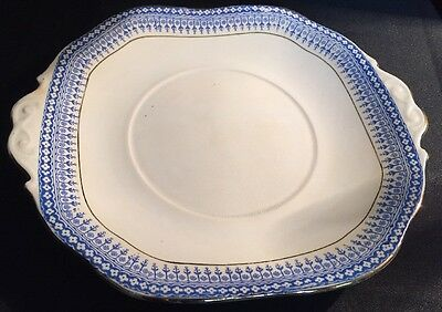 Vintage Stanley China Blue And White Sandwich Plate