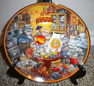 Cat Lovers Collector's Plate Official Gold Medal Flour 115 Anniversary 8""