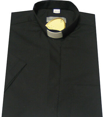 BLACK ECCLESIA CLERGY SHIRTS - Tunnel Collar - EasiCare