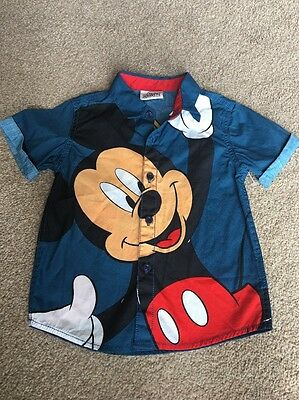 Next Baby Disney Boys Mickey Mouse Smart Shirt Party Cute Summer 12-18
