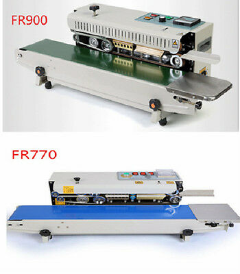 110V 220V horizontal sealing machine sealer Auto  Continuous for plastic bags