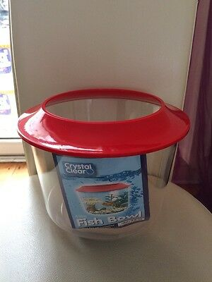 Small Fish Bowl With Lid Goldfish Aquarium 4Ltr Various Colours