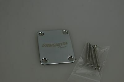 Fender Starcaster Series Strat Stratocaster NECK PLATE w/Screws 3834