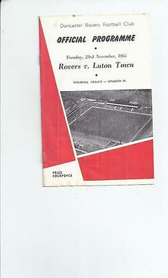 Doncaster Rovers v Luton Town Football Programme 1965/66