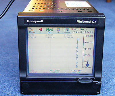 Honeywell Minitrend QX V6 Data Recorder, with Manual and Data Card