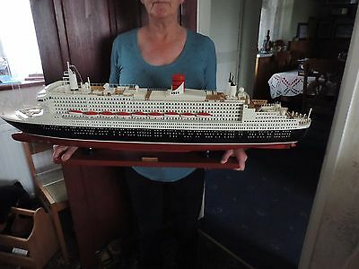 Cunard Queen Mary 2 Cruise Liner professionally cased